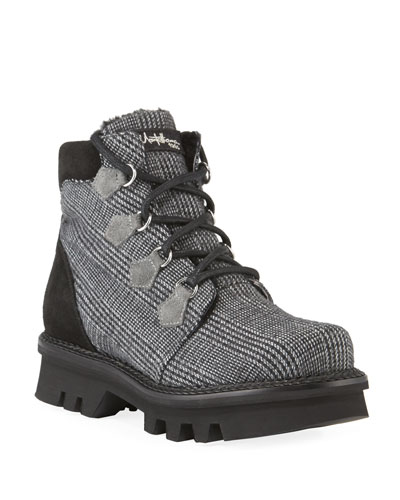 Claudine Houndstooth Boots