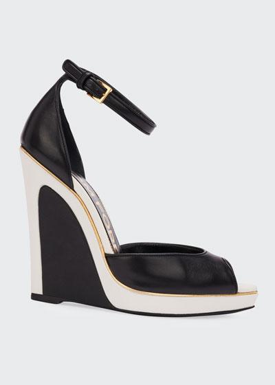 Trompe L'oeil Wedge Sandals