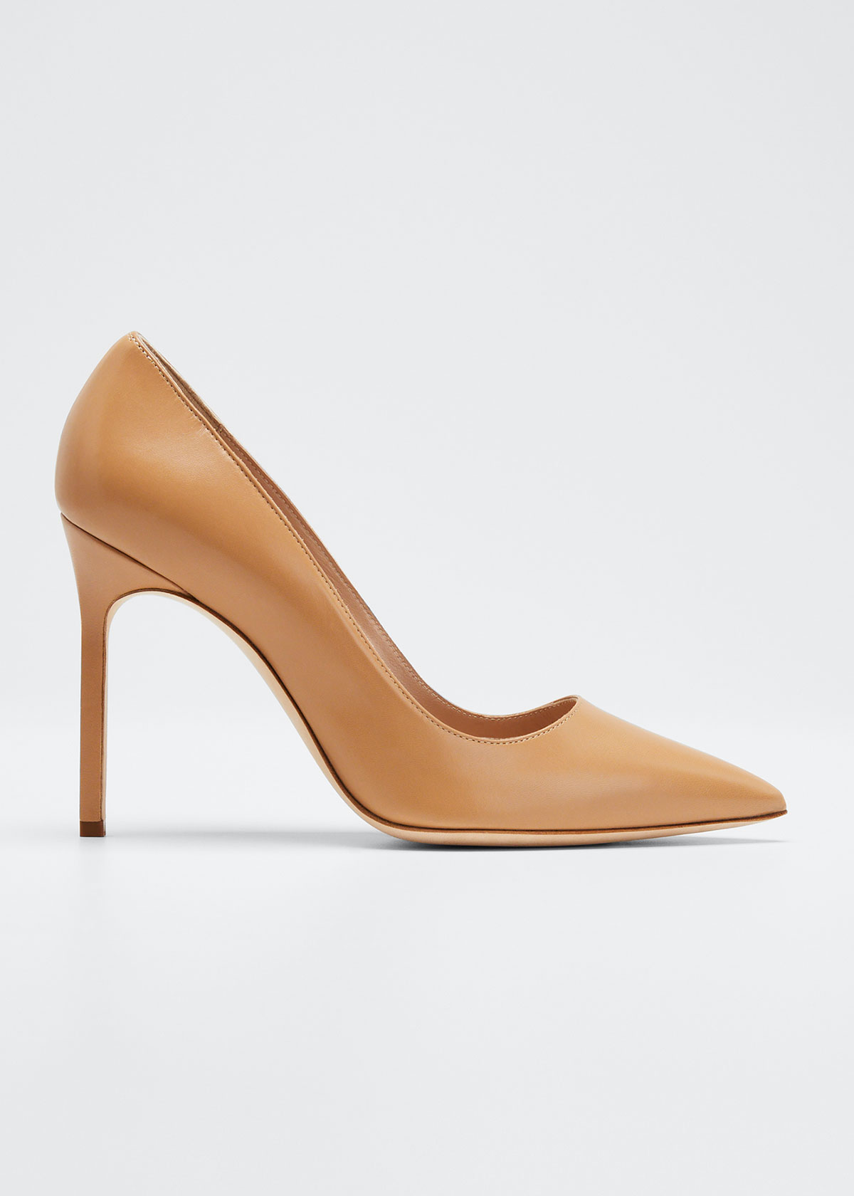 Manolo Blahnik Bb Leather 105Mm Pumps In Light Beige