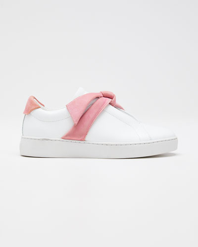Clarita Two-Tone Knotted Bow Sneakers