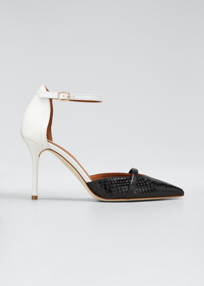 Booboo 85mm Two-Tone Snake Pumps
