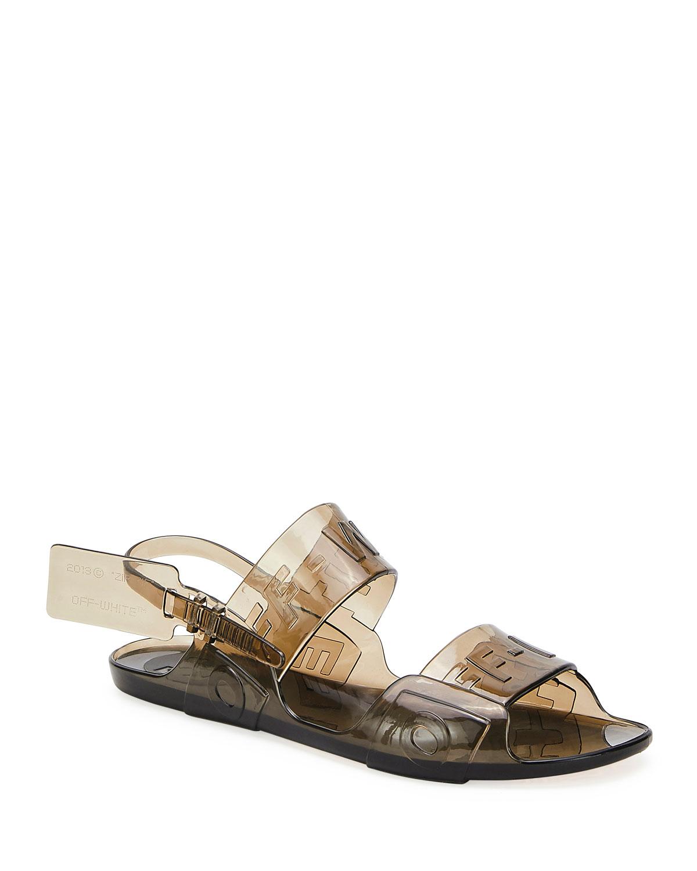 Off-White Sandals ZIP TIE JELLY SANDALS