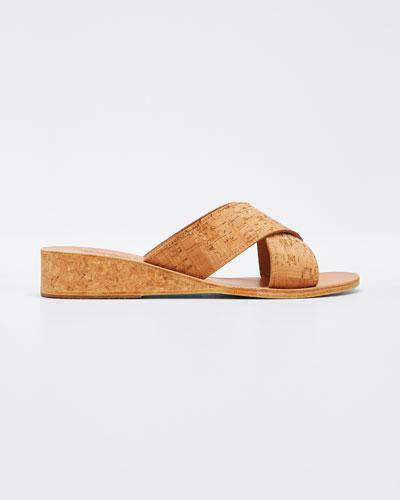 Thais Cork Wedge Sandals