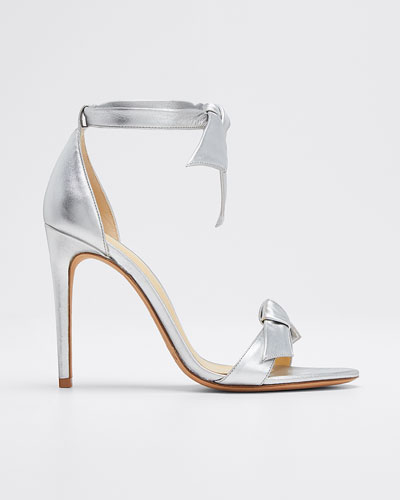 Clarita Tie Metallic Leather Sandals