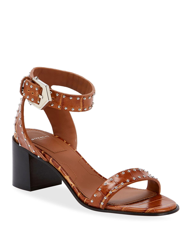 Givenchy Sandals ELEGANT STUDDED LEATHER SANDALS