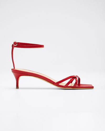 Kaia Leather Ankle Sandals