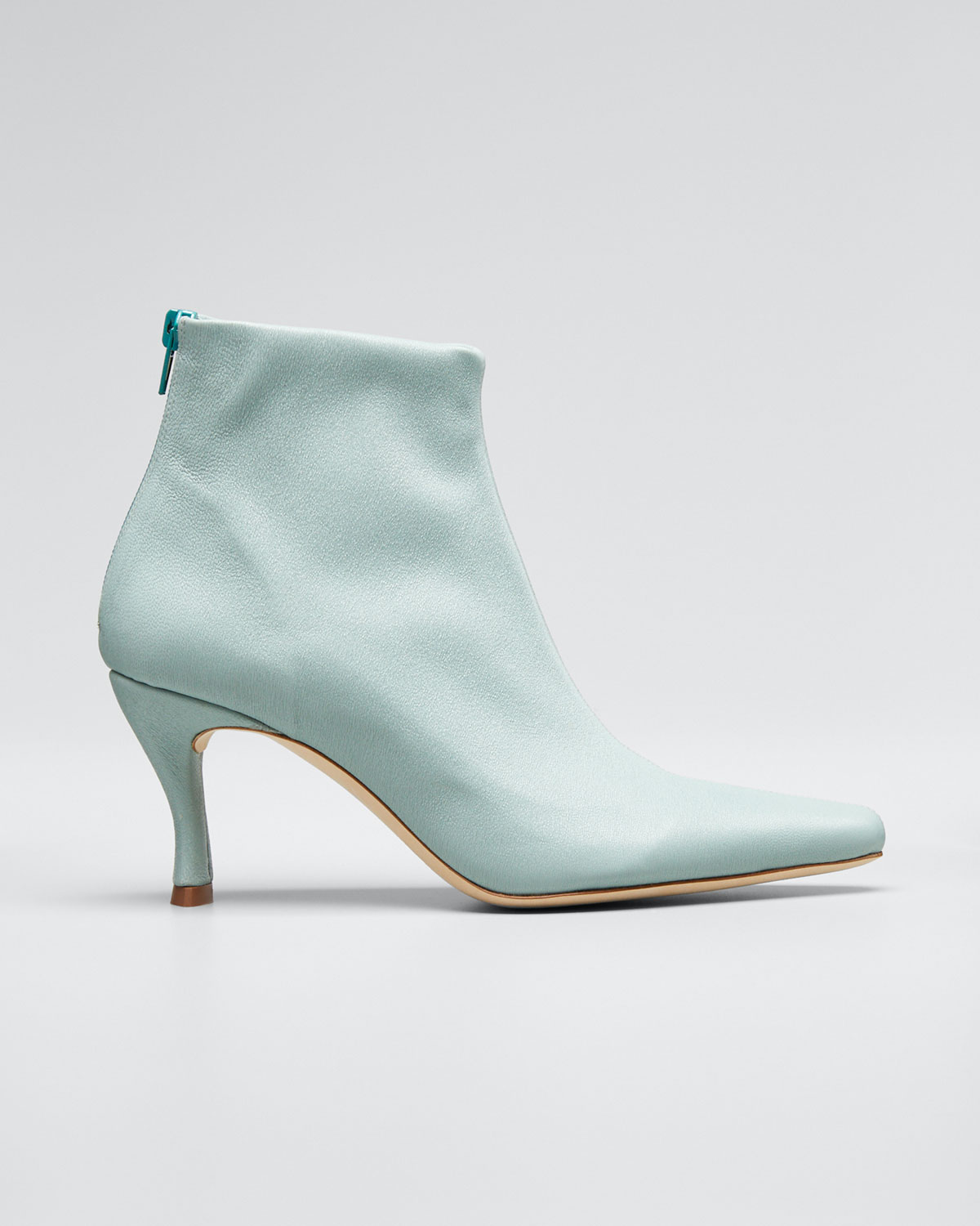 By Far Boots STEVIE MINT STRETCH BOOTIES