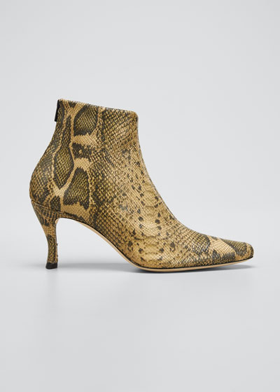 Stevie Snake-Print Stretch Booties