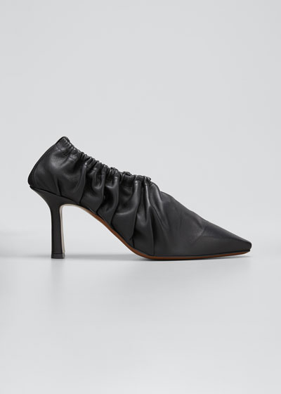 Chondro Ruched Leather Pumps