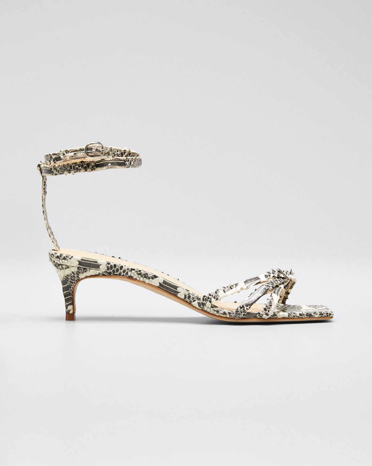 By Far Sandals KAIA SNAKE-PRINT SANDALS
