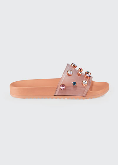 Dina See-Through Vinyl Pool Slide Sandals