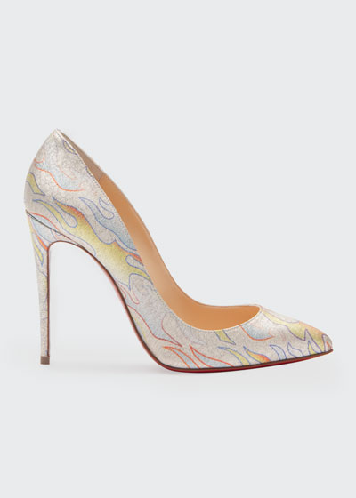 Pigalle Follies 100 Lurex Flame Red Sole Pumps