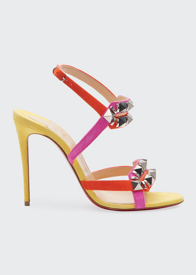 Galerietta 100 Suede Red Sole Sandals