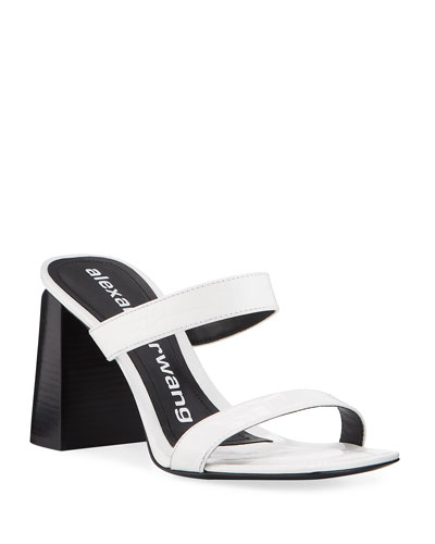 Hayden Mock-Croc Leather Sandals