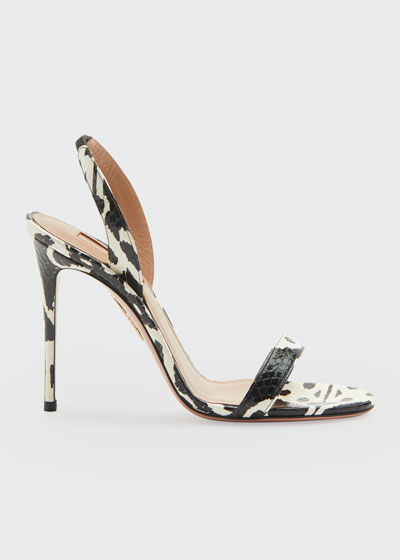 So Nude Kilim Python Snakeskin Sandals