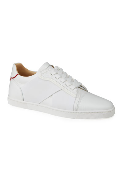 Elastikid Leather Red Sole Low-Top Sneakers
