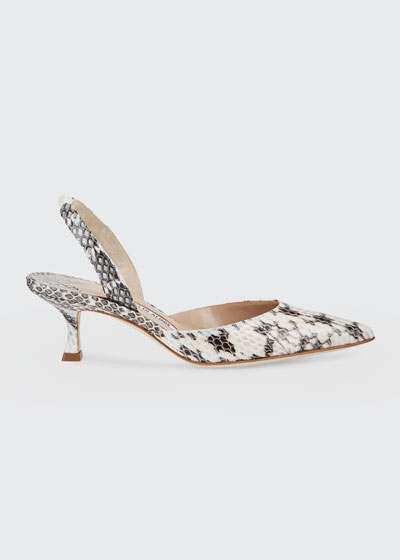 Carolyn Snakeskin Slingback Pumps