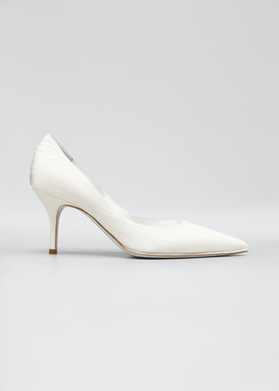 Moire Pumps with Crystal Detail