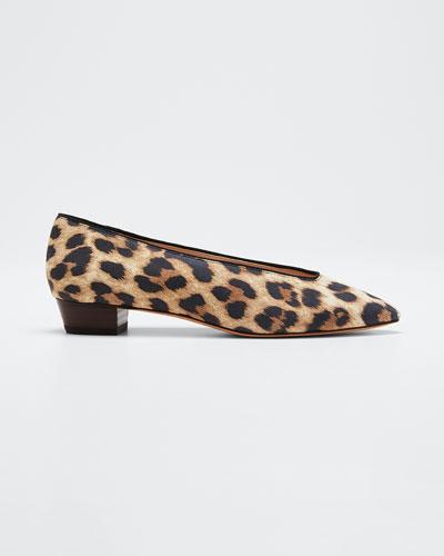Simone Leopard Fabric Flats