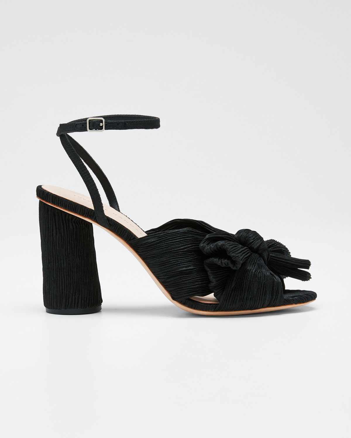 Loeffler Randall Sandals CAMELLIA PLEATED KNOT ANKLE-STRAP SANDALS