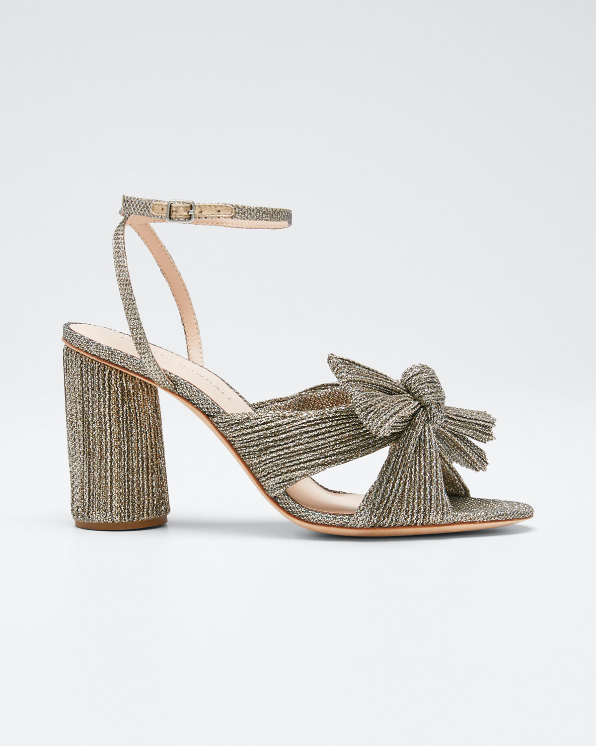 Loeffler Randall Sandals CAMELLIA KNOTTED ANKLE-STRAP SANDALS