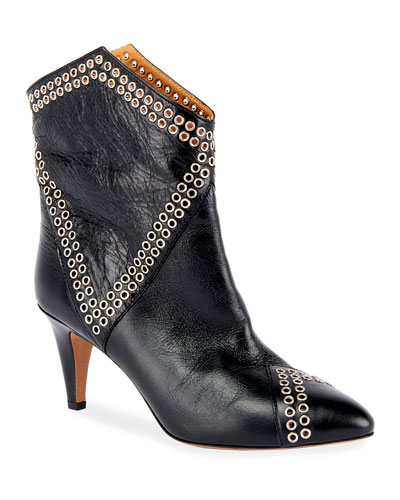 Demka Rugged Leather Western Booties