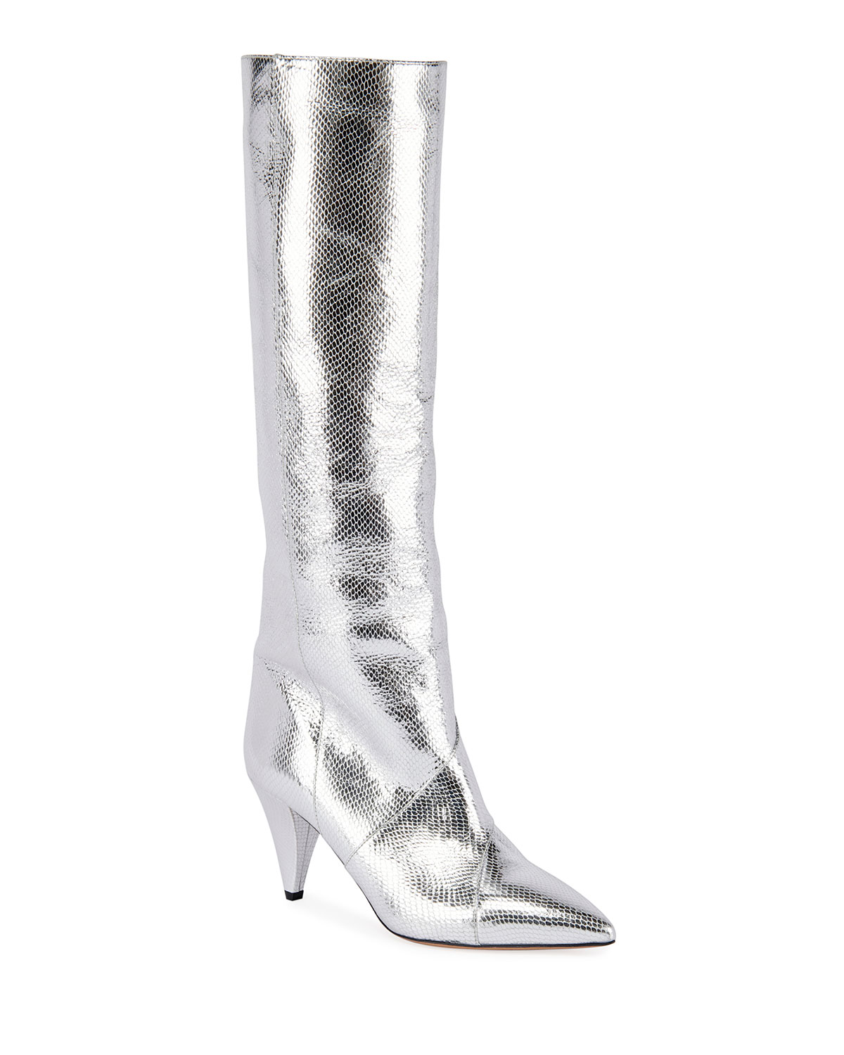 Isabel Marant Boots LAOMI METALLIC LEATHER MID BOOTS