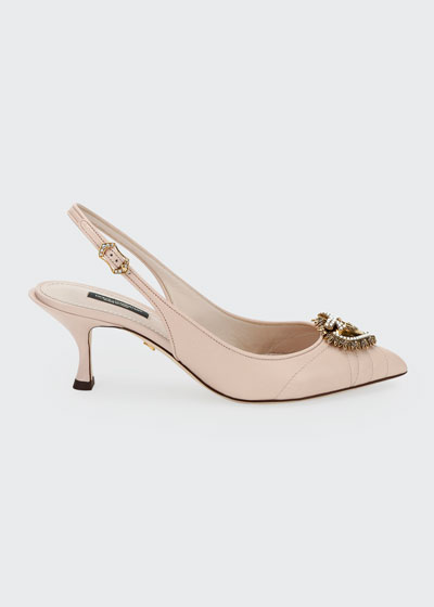 Devotion Leather Slingback Pumps
