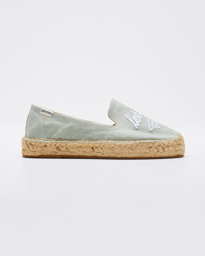 Let's Fly Away Espadrille Flatform Slippers