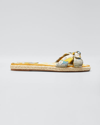 Heli Brocade Espadrille Sandals, Multi