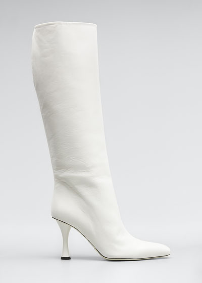 Vase Leather Knee Boots
