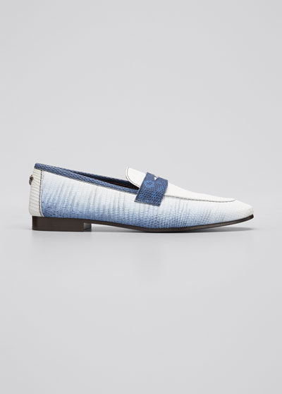 Ombre Lizard Penny Loafer