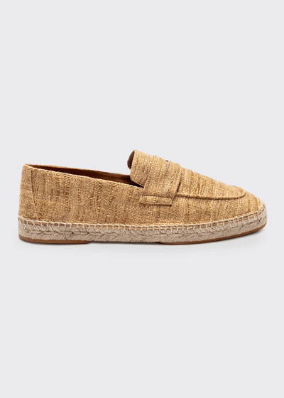Silk Slip-On Espadrille Loafers