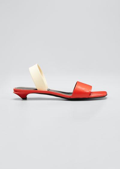 Tic Kitten-Heel Slide Sandals