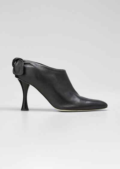 Vase Knotted Leather Booties