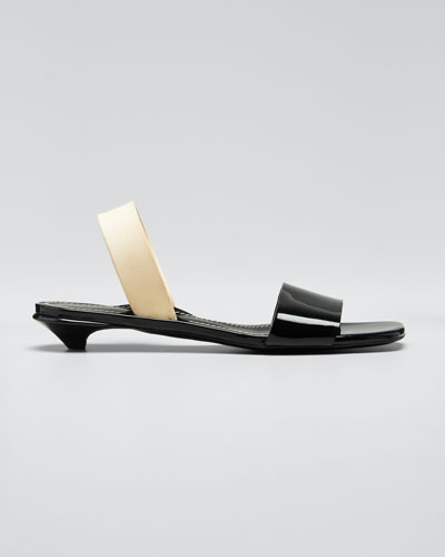 Tic Kitten-Heel Slide Sandals