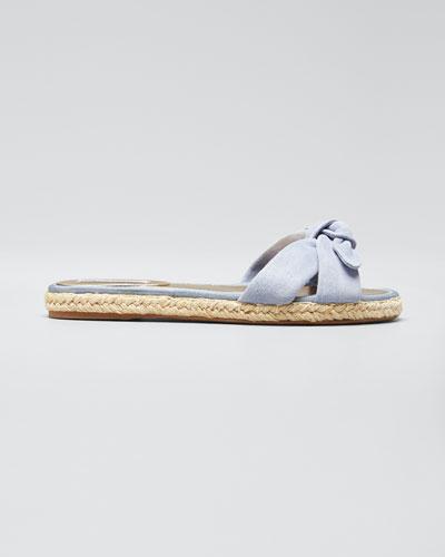 Heli Knotted Suede Espadrille Slide Sandals