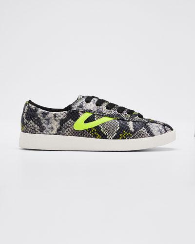 Nylite 41 Plus Snake-Print Sneakers