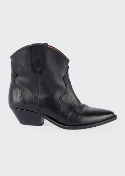 Dewina Leather Western Booties