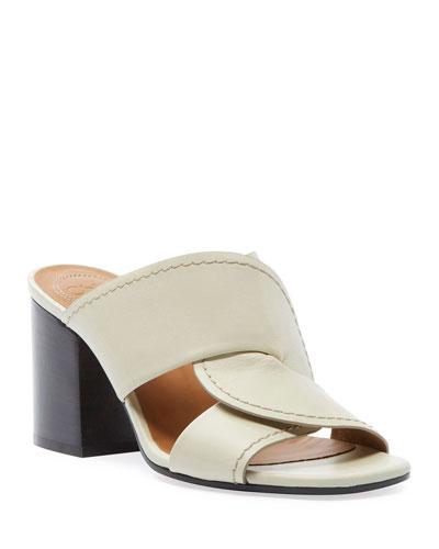 Candice Leather Slide Sandals