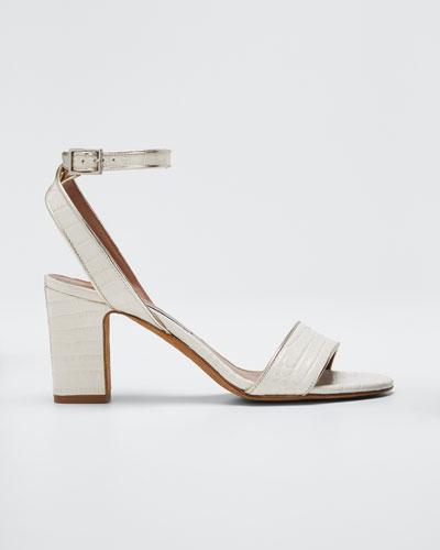 Leticia Croc-Embossed Sandals