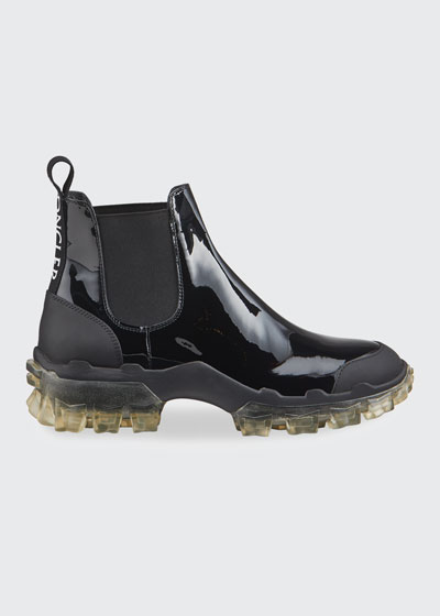 Hanya Patent Chelsea Boots