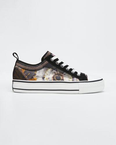 Vertu Floral-Print Court Sneakers