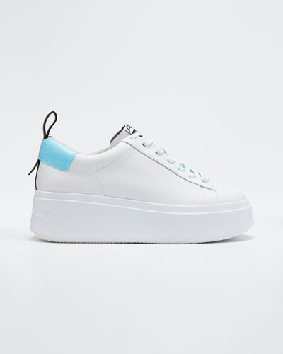 Moon Low-Top Leather Platform Sneakers