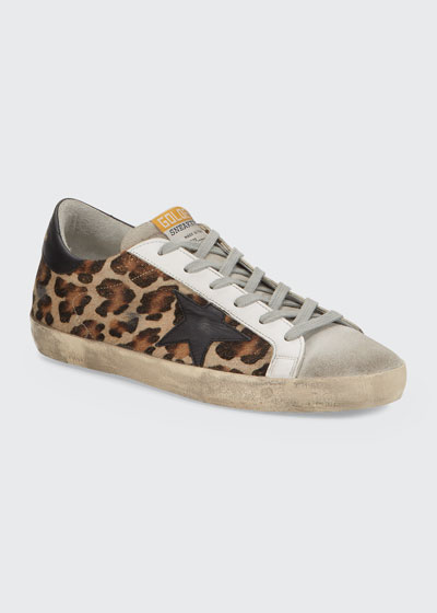Superstar Leopard Calf Hair Sneakers