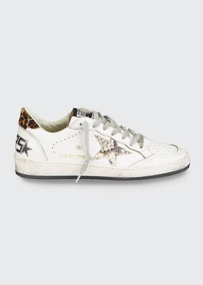 Ball Star Snake-Print Sneakers