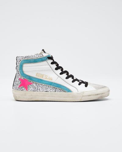 Slide Zip High-Top Sneakers