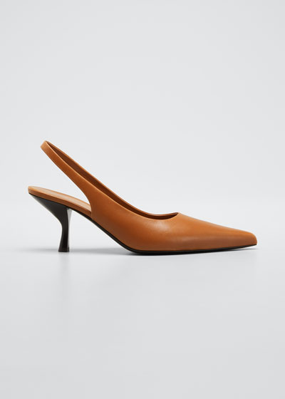 Bourgeoise Leather Slingback Pumps