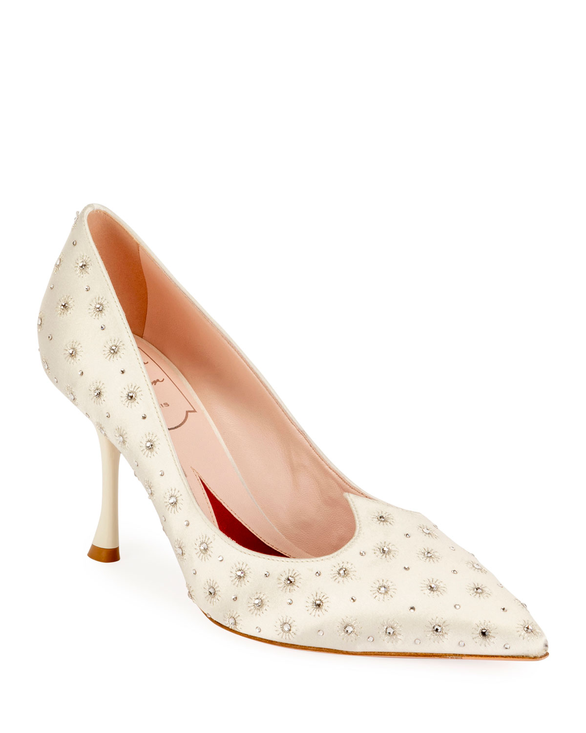 Roger Vivier Pumps I LOVE VIVIER HEART-SHAPE TWINKLE SATIN PUMPS