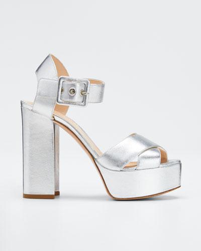 Essential Platform Metallic Sandals